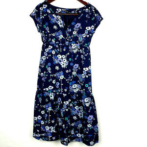 GAP MATERNITY Short Sleeves Floral Midi Dress